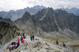 31. Za szczytami Ostrym i Jaworowym podziwialiśmy grupę Gerlacha.