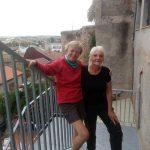 168. …więc na ich tle sfotografowałam się z Anną z Węgier.