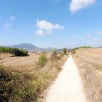 76. Szlak schodził do doliny z wioską Villatuerta i miastem Estella.