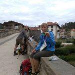 26. Na moście w Zubiri nad rzeką Argą odpoczywałam i jadłam drugie śniadanie.