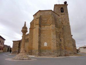 57. Na nocleg stanęłam w Boadilla del Camino z Rollo przy kościele…