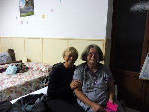 73. W albergu Santo Espiritu z Martą z Węgier.