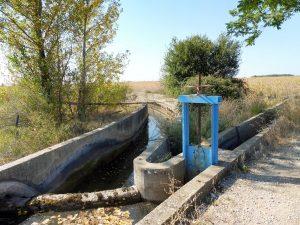 133. Kanały i śluzy dostarczają wodę do pól.