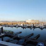 147. Rankiem opuszczamy Gijon obok portu jachtowego…