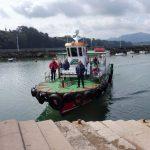 18. …barką do Santander po drugiej stronie zatoki.