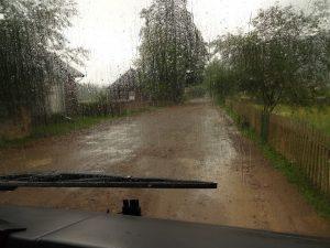 119. Osmołoda żegnała nas deszczem.