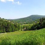 24. …zielonym szlakiem z widokiem na Kamiennik.