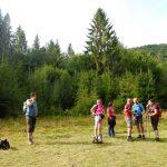 3. Po podejściu lasem osiągnęliśmy polanę…